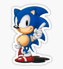 The Classic Blue Hedgehog (white background) Sticker