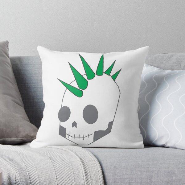 GreenPunk Throw Pillow