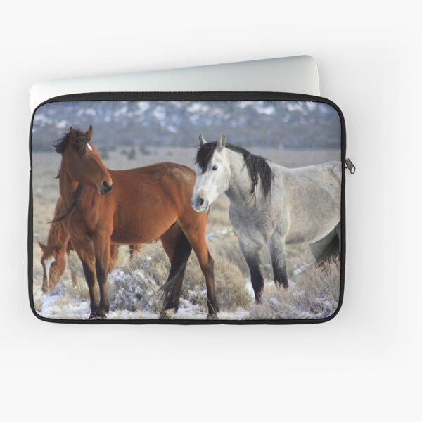 Snow Mustangs Laptop Sleeve