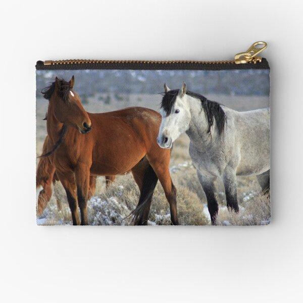 Snow Mustangs Zipper Pouch