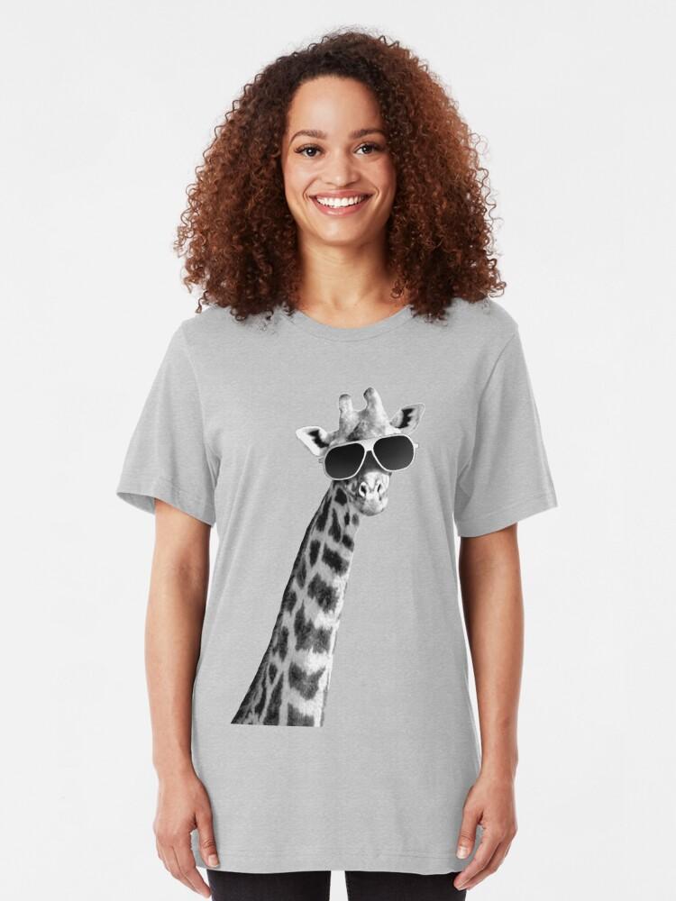 Alternative Ansicht von Coole Giraffe Slim Fit T-Shirt