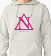 Delta Nu - Pink Pullover Hoodie
