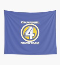 Channel 4 News Team (ANCHORMAN) Wall Tapestry