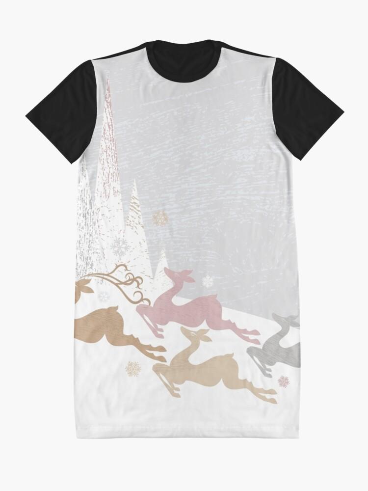 Alternate view of Winter Deer Graphic T-Shirt Dress