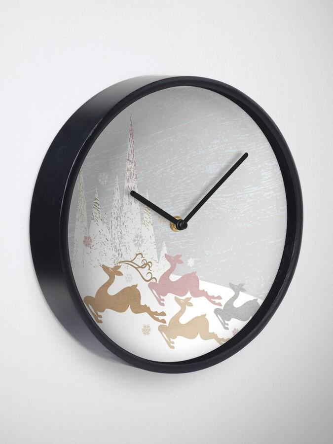 Alternate view of Winter Deer Clock