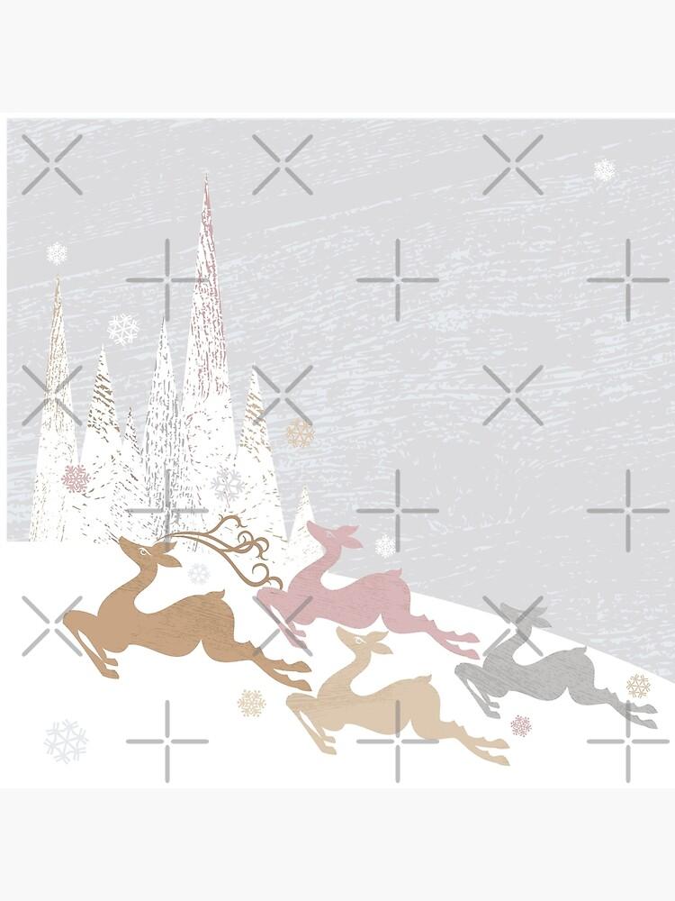 Winter Deer by rusanovska