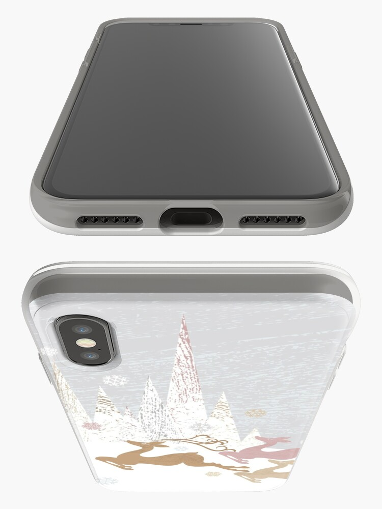 Alternate view of Winter Deer iPhone Case & Cover