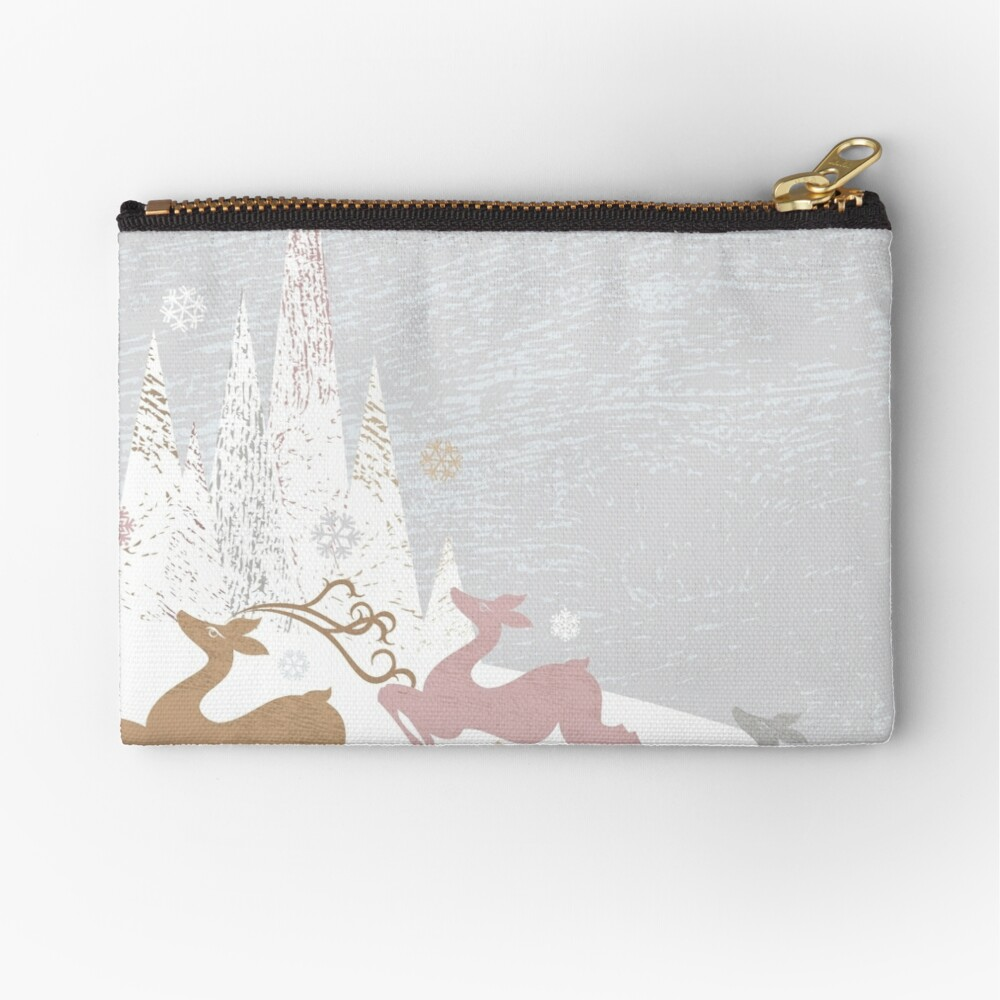 Winter Deer Zipper Pouch