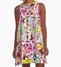 Succulent Pink A-Line Dress