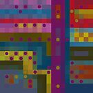 Purple Dots and Boxes by Betty Mackey