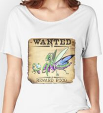 Psychic Mantis Family - Most Wanted Poster Women's Relaxed Fit T-Shirt