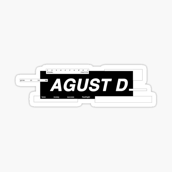 AGUST D Sticker