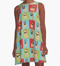 Christmas Pugs  A-Line Dress