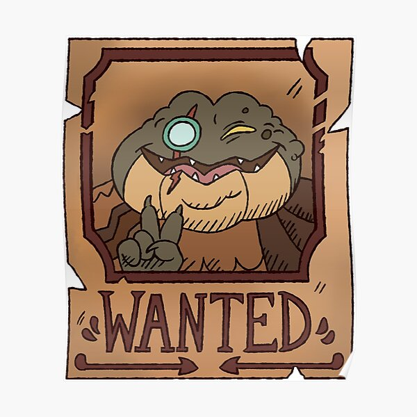 Captain Grime Wanted Poster