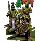 Mayan warriors by David  Kennett