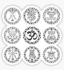 Eight Auspicious Symbols - Buddhist Sticker