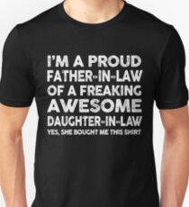 Proud Father In Law Of Awesome Daughter In Law T-Shirt T-Shirt