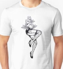 Sexy inked female legs. Unisex T-Shirt