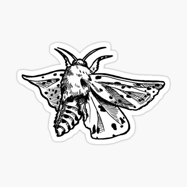 Motte im Flug nachts Sticker