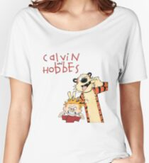 Calvin and Hobbes Funny Face Women's Relaxed Fit T-Shirt