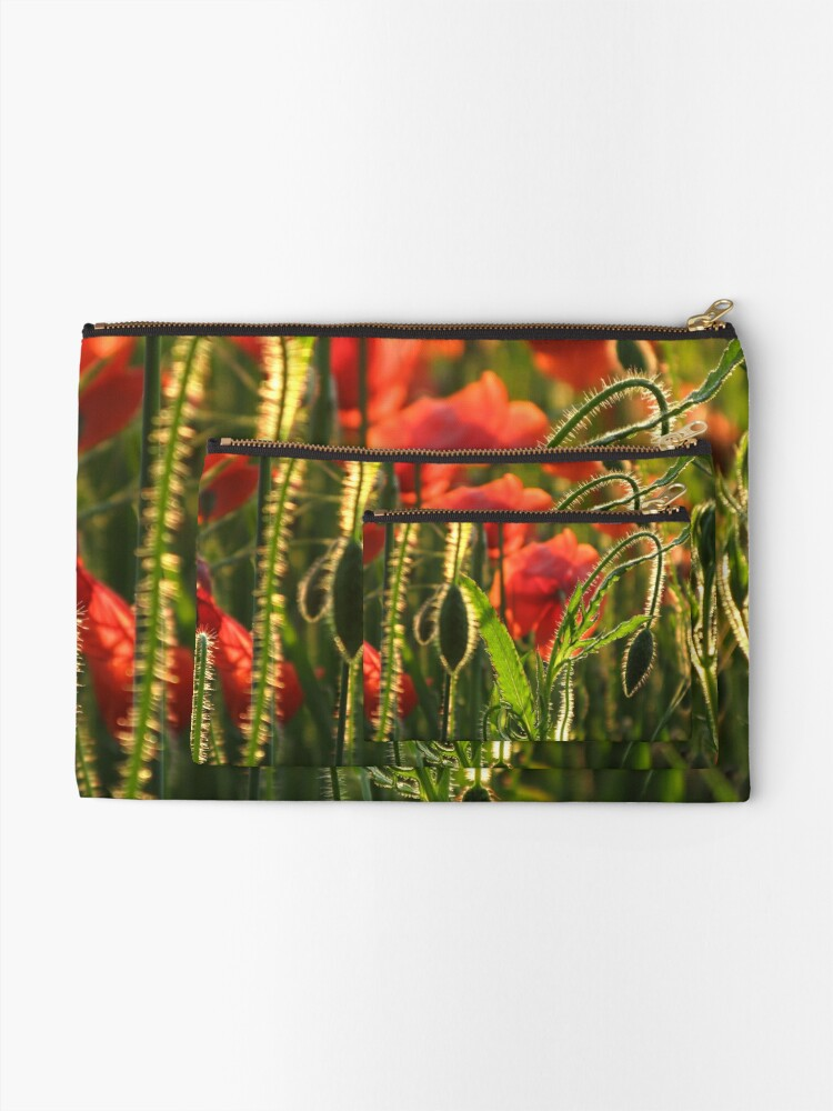 Alternate view of Poppies 5 Zipper Pouch