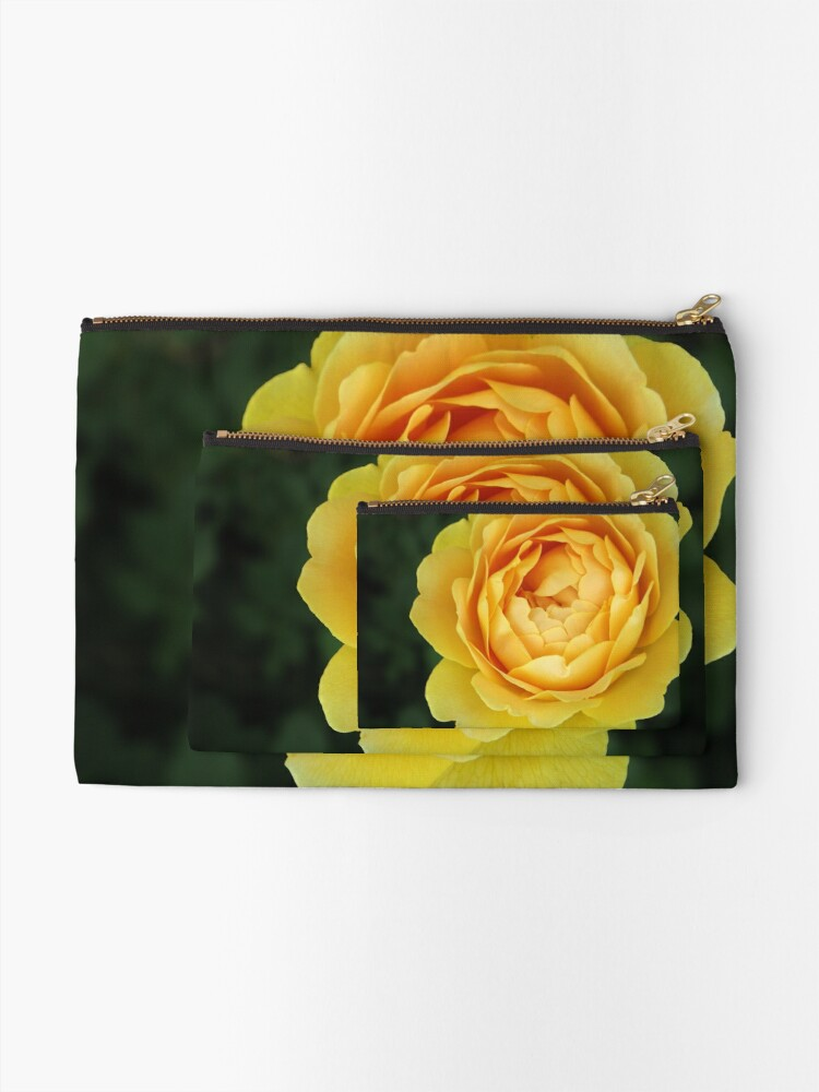 Alternate view of Apricot Rose Zipper Pouch