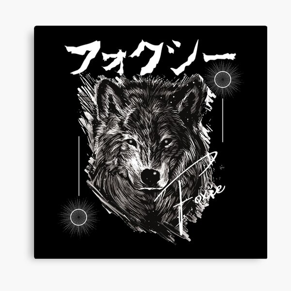 Foxie but i use the picture of wolf haha Canvas Print