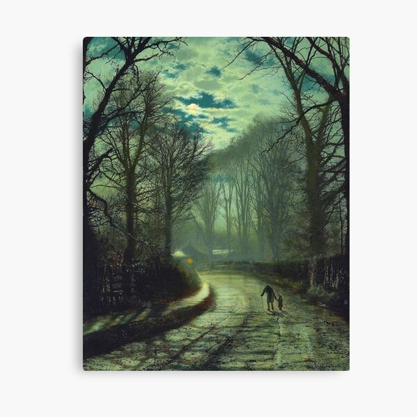 John Atkinson Grimshaw : Nearing Home, 1872, Canvas Print