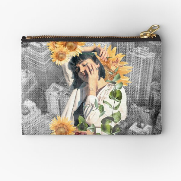 Floral girl in the city Zipper Pouch
