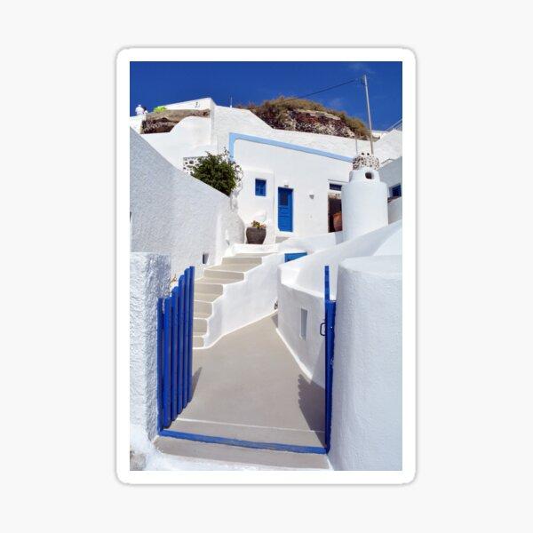 White architecture of Oia village on Santorini island, Greece Sticker