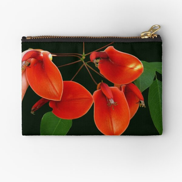 Cockspur Coral Tree....(Erythrina crista-galli) Zipper Pouch