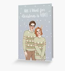 all i want for xmas is u(fo) Greeting Card