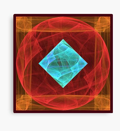 Antiquarian Pulsar #fractal art Canvas Print