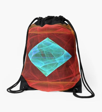 Antiquarian Pulsar #fractal art Drawstring Bag