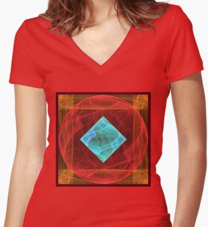 Antiquarian Pulsar #fractal art Fitted V-Neck T-Shirt