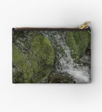 Mossy Rocks Waterfall Studio Pouch