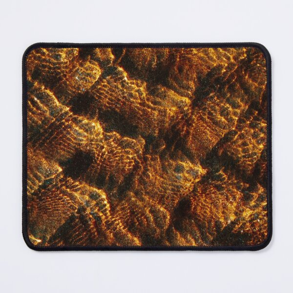 Golden Ripples Mouse Pad