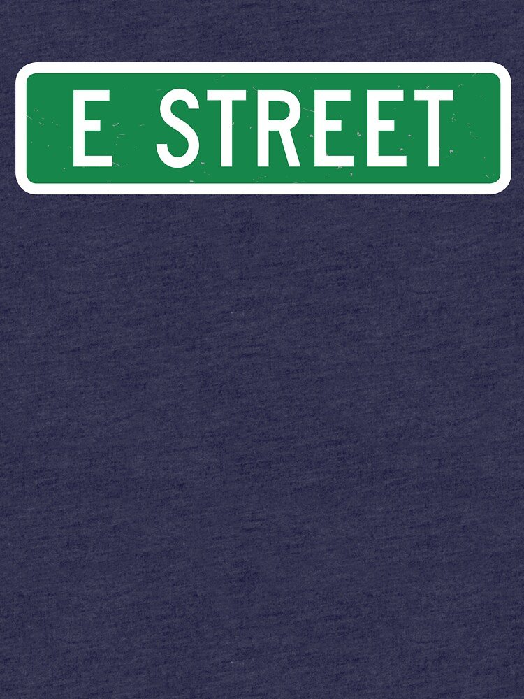 E Street, vintage street sign (color version) by dissident