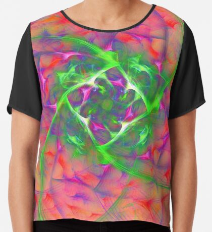 At the beginning of the rotation #fractal art Chiffon Top