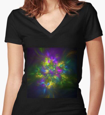Five stars #fractals Women's Fitted V-Neck T-Shirt