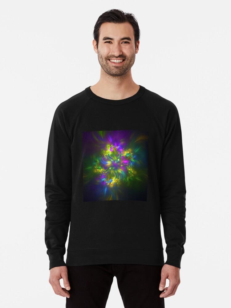 Alternate view of Five stars #fractals Lightweight Sweatshirt