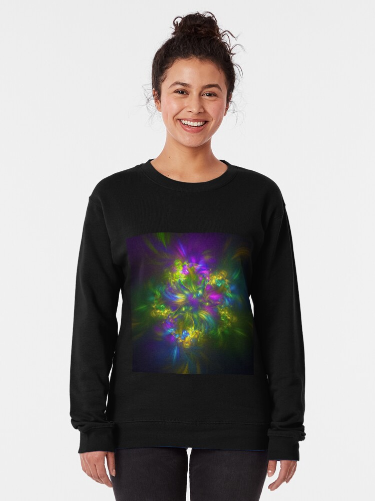 Alternate view of Five stars #fractals Pullover Sweatshirt
