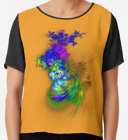 Vase of flowers #fractals Chiffon Top