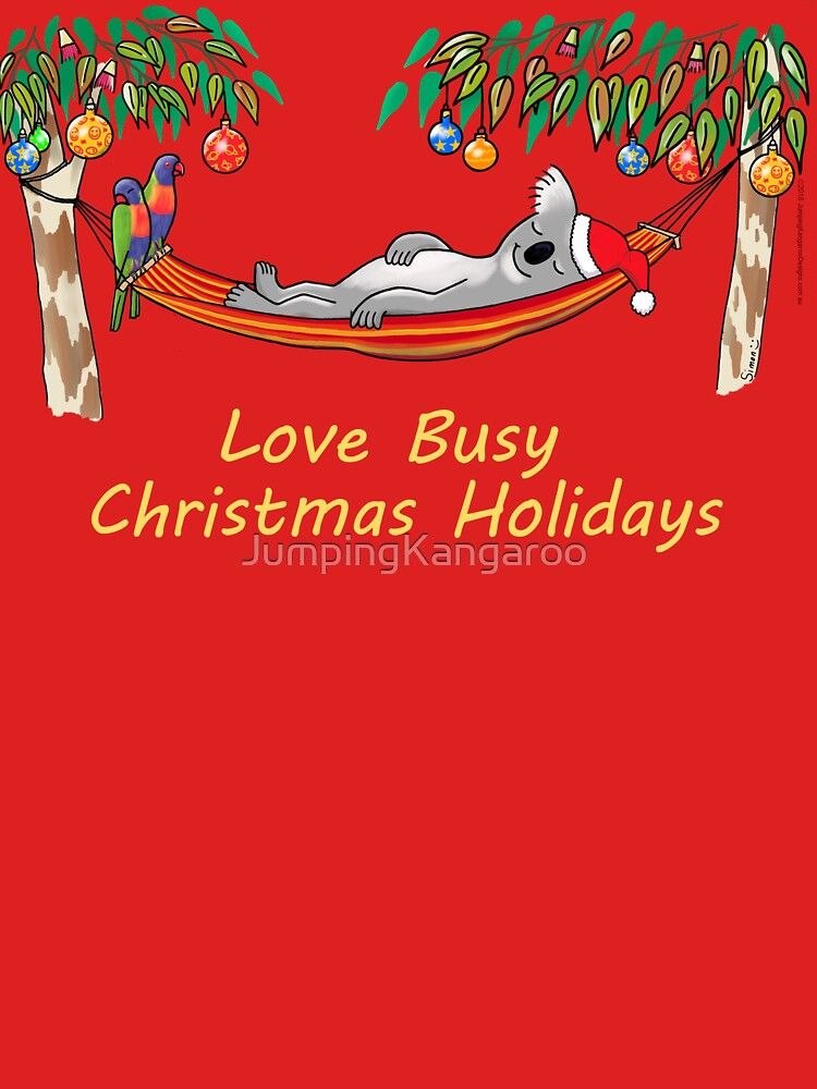 Koala Relaxing on its Hammock – Love Busy Christmas Holidays!  by JumpingKangaroo