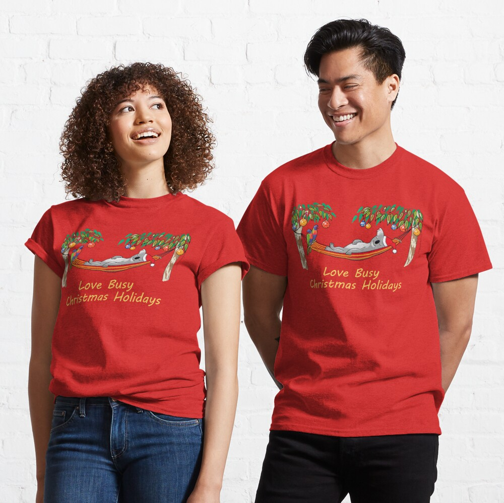 Koala Relaxing on its Hammock – Love Busy Christmas Holidays!  Classic T-Shirt