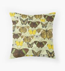 Retro Vintage Butterflies Pattern Throw Pillow