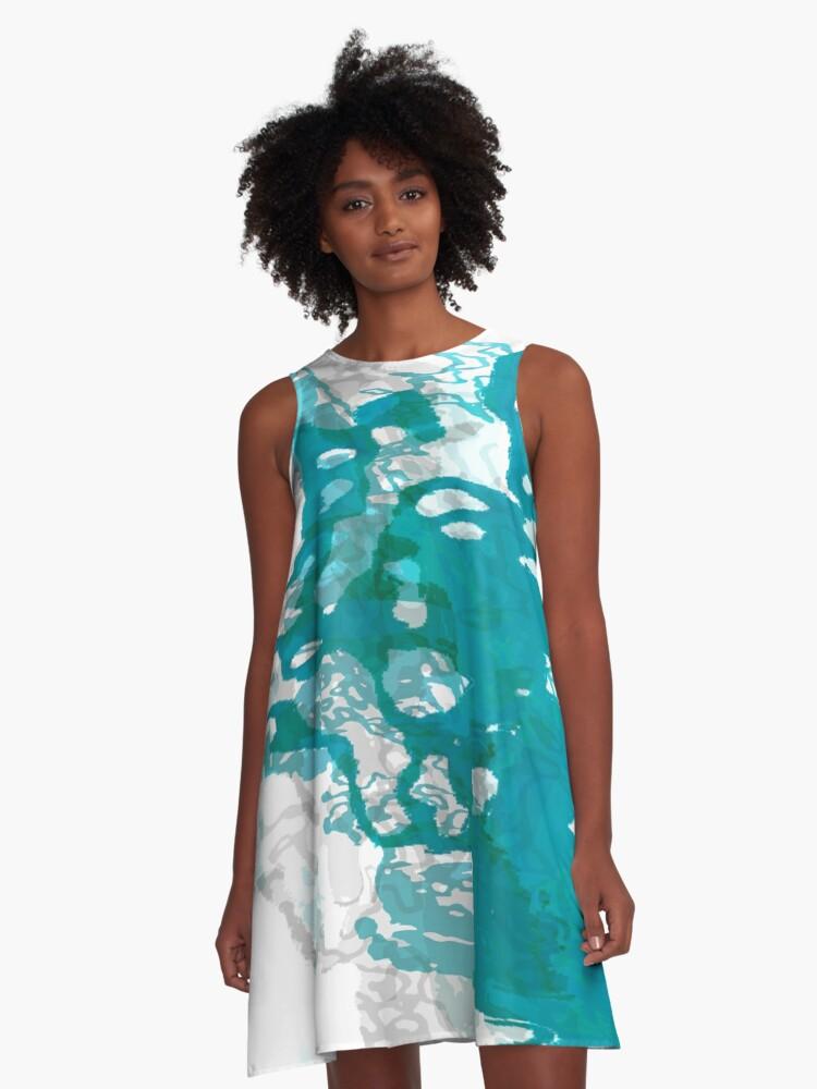 20160929 green blue oblivion no. 6 A-Line Dress Front