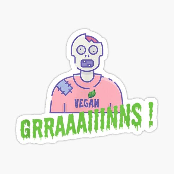 Vegan Zombie Grains Brains Halloween Sticker