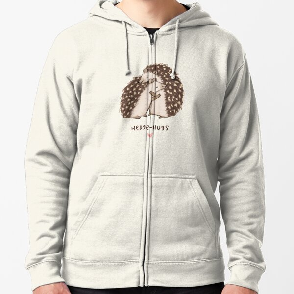Hedge-hugs Zipped Hoodie
