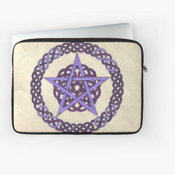 Purple Pentagram  Laptop Sleeve
